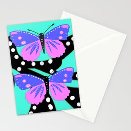 Butterfly delight aqua Stationery Cards