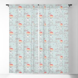 Everything will be alright pattern Blackout Curtain