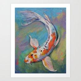 Heisei Nishiki Koi Art Print