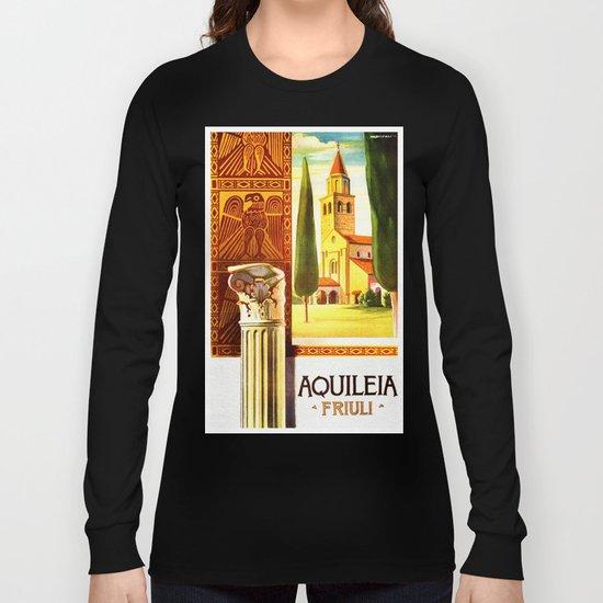 Aquileia Italy - Vintage Travel Long Sleeve T-shirt