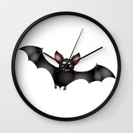 cartoon bat Wall Clock