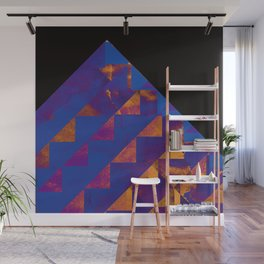 Blue Mountains Abstract Wall Mural