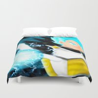 dragonball Duvet Covers featuring SSGSS Vegeta by AmaterasuVG