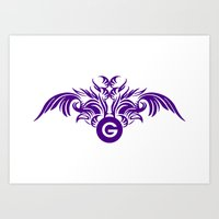 tatoo Art Prints featuring tatoo design by Azeez Olayinka Gloriousclick