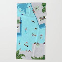 Crisp cut swim Beach Towel