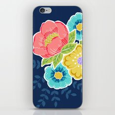 Floral Beauty - Midnight iPhone & iPod Skin