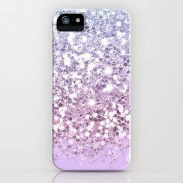 Sparkly Unicorn Lilac Glitter Ombre iPhone Case