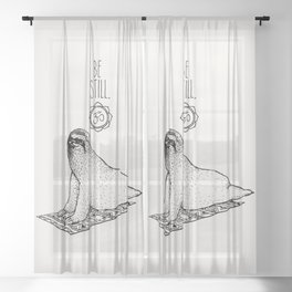 Sloth Be Still Sheer Curtain