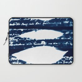 Fragments of the Past (30), art print, collage, blue print, cyanotype print, wall art, wall decor Laptop Sleeve