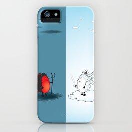 bad hedgehog/good hedgehog iPhone Case