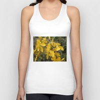 marc johns Tank Tops featuring Beautiful St Johns Wort by Wendy Townrow