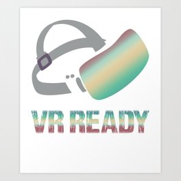 Virtual Reality Vr Gift Game Glasses AR Art Print