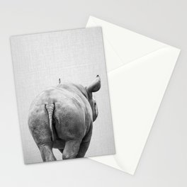 Rhino Tail - Black & White Stationery Cards