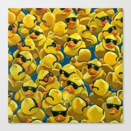 One of a Kind - Rose Colored Glasses - Rubber Ducks Canvas Print