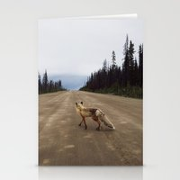 street Stationery Cards featuring Road Fox by Kevin Russ