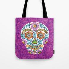 Flower Power Skully Tote Bag