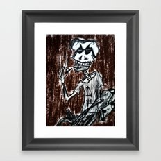 smoke til the skin falls off Framed Art Print
