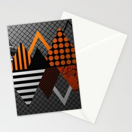 Industrial Geometry - Metallic, geometric, bronze, silver and gold, textured, patterned artwork Stationery Cards