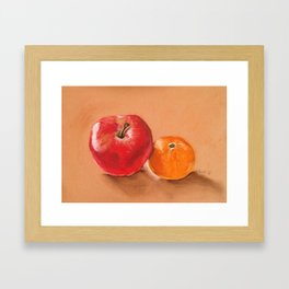 Apple and Clementine Framed Art Print