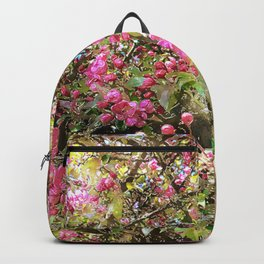Springtime, purple blossoms Backpack