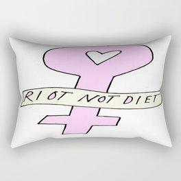RIOT NOT DIET Rectangular Pillow