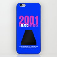 2001 a space odyssey iPhone & iPod Skins featuring 2001: A Space Odyssey Movie Poster by FunnyFaceArt