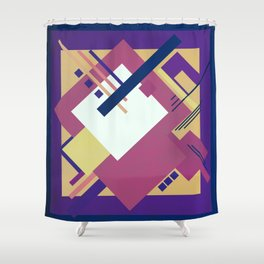 Geometric illustration 19 Shower Curtain