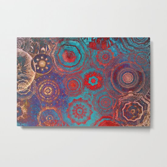 Mysterious Circles Metal Print