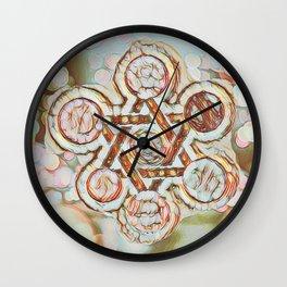 Rose Gold Star of David Wall Clock