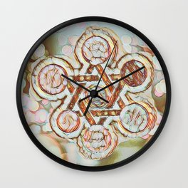Rose Gold Star of David Wall Clock