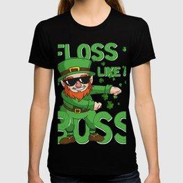 Leprechaun Floss like a Boss St Patricks Day Gift Kids T-shirt