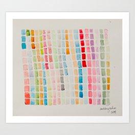 Color Matrix Grid Art Print