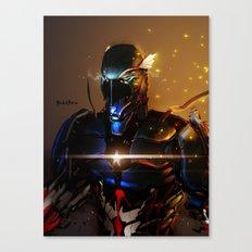 Captain America Cyber Evolution Fan Art Canvas Print