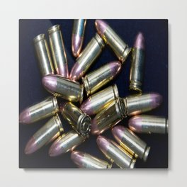 Cluster of 9mm Ammo Metal Print
