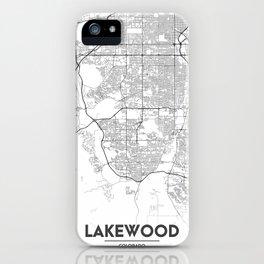 Minimal City Maps - Map Of Lakewood, Colorado, United States iPhone Case