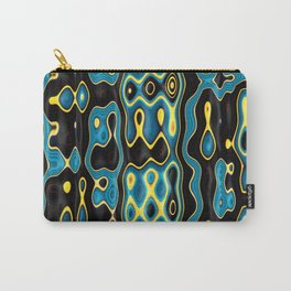 MATRIX turquoise black yellow modern abstract design Carry-All Pouch