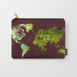 World Map 10 Carry-All Pouch