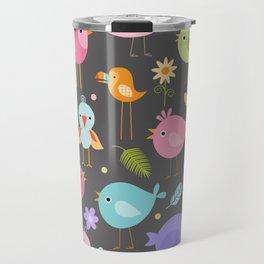 Birds - Gray Travel Mug