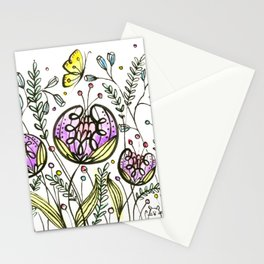 Flowers by Doodling Stationery Cards