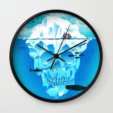 Cold Cruisings and Icy Endings Wall Clock