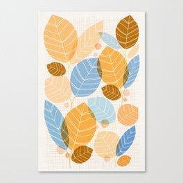 Golden Aspen / Abstract Leaf Illustration Canvas Print