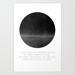 The Mist (white) Art Print