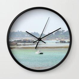Walking on the shore Wall Clock