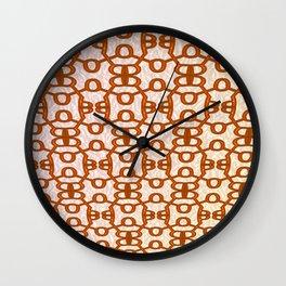 Russian bread on cream Wall Clock