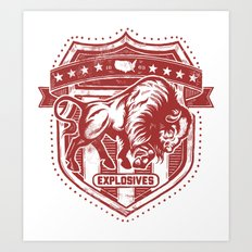 Buffalo Explosives Art Print
