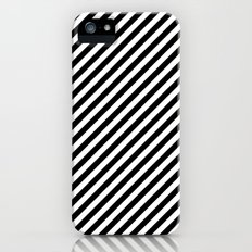 Classic Stripes Black + White Slim Case iPhone (5, 5s)