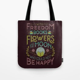 Flowers and the Moon Tote Bag