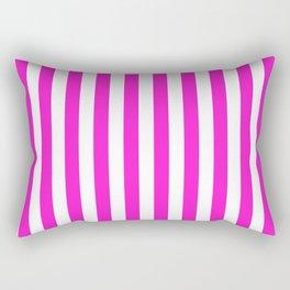 Vertical Stripes (Hot Magenta/White) Rectangular Pillow