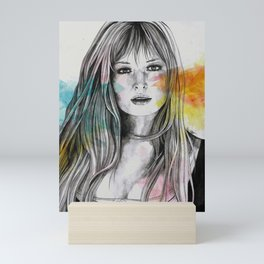 Monica (sexy pencil portrait of Monica Vitti) Mini Art Print