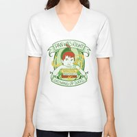 peter pan V-neck T-shirts featuring Pan by Charleighkat